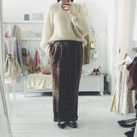 used  checked pants brown