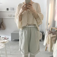 〔 stitchandsew  〕white leather belt
