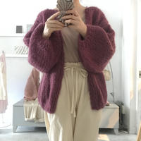 Maiami  mohair big  knit  cardigan