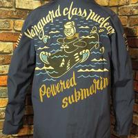 米海軍 ユーティリティジャケット レディース 手描き 潜水艦 ネイビー USN デッキジャケット 松岡佳博