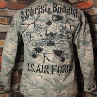 米空軍 ABUジャケット Mサイズ38 レディース6L キリスト ブッダ 手描き 松岡佳博