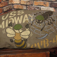 ロスコ ミリタリー ダッフルバッグ 手描き ハチ クモ キャンバス 厚地 松岡佳博