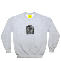 (ロイヤルズ オンリー) LOYALS ONLY  PRISONNER OF LOVE heather crew sweat スウェット grey