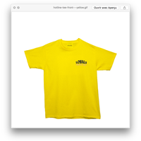 (ロイヤルズ オンリー) LOYALS ONLY  HOTLINE Tee yellow