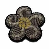 MACON & LESQUOY  マコン・エ・レスコア  HAND-EMBROIDERED 花 ブローチ