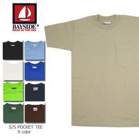 BAYSIDE  7100 6.1oz  POCKET TEE  ベイサイド   ポケット付きクルーネックTシャツ MADE IN USA  /  bs10