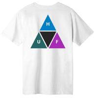 HUF Prism Triple Triangle S/S TEE ハフ 半袖 Tシャツ TS00908 メンズ  / HUF176  WHITE