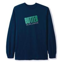 BUTTER GOODS Tilt L/S Tee メンズ 長袖 Tシャツバターグッズ ロンT  / BG17  NAVY
