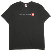 THE NORTH FACE EUモデル  S/S NEVER STOP EXPLORING TEE ノースフェイス Tシャツ NF0A2TX4 メンズ  / TNF65 TnfBlack