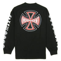 INDEPENDENT ANTE L/S REGULAR T-SHRTSインディペンデント  / IND17 BLK