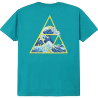 HUF ハフ HIGH TIDE TRIANGLE S/S TEE TS00370  半袖Tシャツ HUF132  TropicalGreen