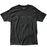 THE QUIET LIFE RAINBOW TEE ザクワエットライフ Tシャツ QL27 BLACK