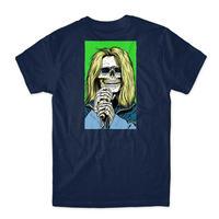 GIRL Skull of Fame T-Shirt ガール Tシャツ NAVY GR14