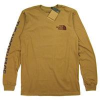THE NORTH FACE  L/S TNF SLEEVE HIT TEE  メンズ  ノースフェイス ロンT 長袖Tシャツ NF0A471K UtilityBrown / TNF44