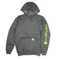 CARHARTT Midweight Signature Hooded Pullover Sweatshirt K288 CarbonHeather / CHT39