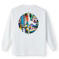 POLAR SKATE CO Memory Palace Fill Logo Longsleeve ポーラースケートカンパニーメンズ ロンT 長袖 tシャツ WHITE /PL19