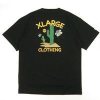 XLARGE  S/S POCKET TEE CACTUS メンズ ポケ付き半袖Tシャツ BLACK  XL56