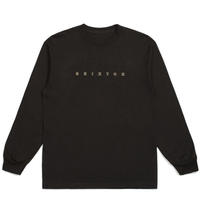 BRIXTON CANTOR L/S TEE ブリクストン ロンT ロンティー メンズ 長袖Tシャツ / BRIX444 BLACK