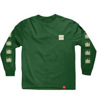 Chocolate Skateboards Peacock L/S Tee   ロンT  チョコレート 長袖 Tシャツ cho13 FOREST GREEN
