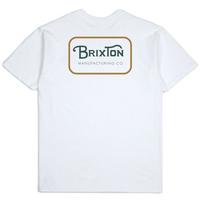 BRIXTON GRADE S/S STANDARD TEE  メンズ ブリクストン BRIX386 WhiteGoldGreen