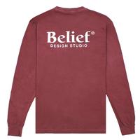 BELIEF NYC Studio L/S Pocket Tee - Brick ビリーフ bl18