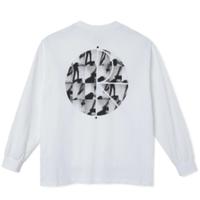 POLAR SKATE CO SEQUENCE FILL LOGO LONGSLEEVE WHITE ポーラースケートカンパニーメンズ ロンT 長袖 tシャツ PL37