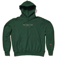 THE QUIET LIFE Serif Champ Reverse Weave Hood ザ クワイエットライフ リバースウィーブ / QL35 HunterGreen