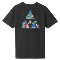 HUF Comics Triple Triangle S/S TEE ハフ TS00894 半袖 Tシャツ メンズ / HUF175 BLACK