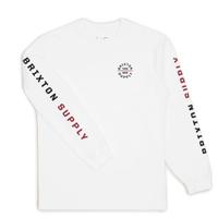 BRIXTON  OATH VI L/S STANDARD ブリクストン ロンT TEE Tシャツ 長袖 カットソー メンズ  WHITE