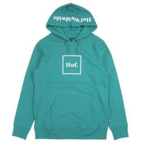 HUF BOX LOGO PULLOVER HOODIE / HUF93 ハフ QuetzalGreen