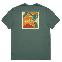 BRIXTON Alpha Square Sunset S/S Tailored Tee  メンズ Tシャツ SilverPine BRIX495