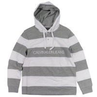 Calvin Klein Jeans Hooded Rugby Stripe Logo Long-Sleeve Pullover メンズ / CK82