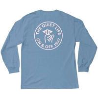 THE QUIET LIFE ザ クワイエットライフ Shhh Circle Long Sleeve Tee メンズ トップス 長袖Tシャツ  SLATE/QL21