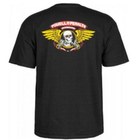 POWELL PERALTA Winged Ripper T-shirt メンズ Tシャツ パウエル PW16 BLACK