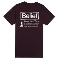 BELIEF NYC ビリーフ Tシャツ NAUTICAL TEE  BL12 DARK OXBLOOD