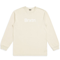 BRIXTON ×  LUCAS BEAUFORT / CROWD II LS TEE ブリクストン  長袖 ロンT ルーカス・ビューフォート -  / 02770  STONE