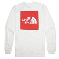 THE NORTH FACE  RED BOX L/S TEE メンズ ノースフェイス レッドボックス ロンT  長袖Tシャツ NF0A4M4Q  アウトドア  /TNF45 WHITE