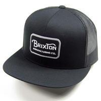 BRIXTON CAP ブリクストン キャップ GRADE MESH CAP SNAPBACK 00232 BLACKGREY メンズ 帽子 MEN'S / BRIX461 BLACK