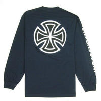 INDEPENDENT BAR/CROSS L/S REGULAR T-SHIRT IND10 NAVY