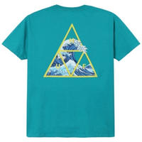 HUF ハフ HIGH TIDE TRIANGLE S/S TEE TS00370  HUF132  TropicalGreen