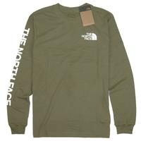 THE NORTH FACE  L/S TNF SLEEVE HIT TEE  メンズ  ノースフェイス ロンT 長袖Tシャツ NF0A471K  アウトドア  / TNF44  Olive