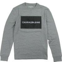 CALVIN KLEIN JEANS MEN'S カルバンクラインジーンズ ロンT BOXデザイン メンズ トップス 長袖Tシャツ  /CK98