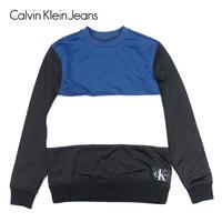 Calvin Klein Jeans カルバンクラインジーンズ クルーネックスウェット Europe Oversize Colorblock CREWSWEAT メンズ トップ トレーナー/CK77
