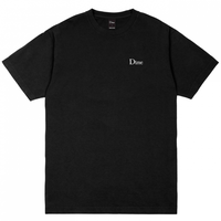 Dime Classic Embroidered T-Shirt ダイム メンズ Tシャツ クラッシク ロゴ刺繍 Dime Mtl  BLACK