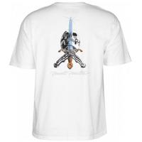 POWELL PERALTA Skull&Sword T-shirt Tシャツ  WHITE  PW14