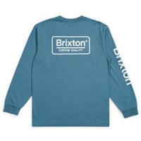 BRIXTON  PAMER SV LS STANDARD TEE  / BRIX408 OrionBlue