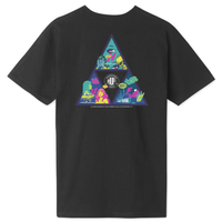 HUF Comics Triple Triangle S/S TEE ハフ TS00894 半袖 Tシャツ メンズ / HUF175 BLACK