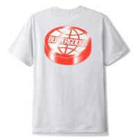 BUTTER GOODS Disk Logo Tee, Ash Grey BG16
