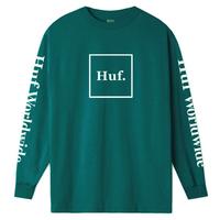 HUF ESSENTIALS DOMESTIC LS TEE / ハフ HUF90 QuetzalGreen