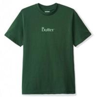 BUTTER GOODS Tシャツ PUFF PRINT CLASSIC LOGO TEE メンズ バターグッズ BG10 ForestGreen